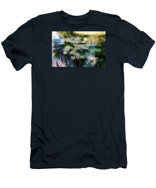 Men's T-Shirt (Slim Fit) featuring the photograph At Claude Monet's Water Garden 2 by Dubi Roman