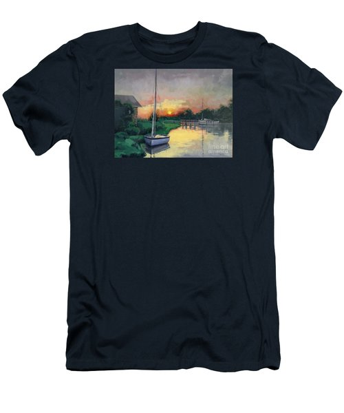 Men's T-Shirt (Slim Fit) featuring the painting At Ease Sold by Nancy Parsons