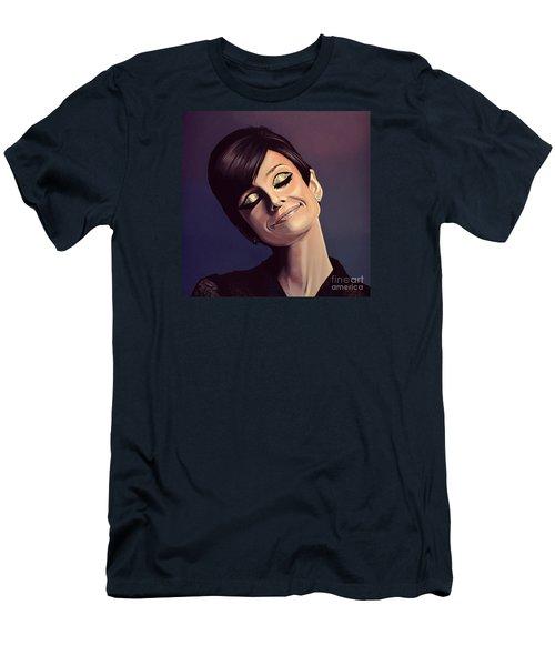 Audrey Hepburn Painting Men's T-Shirt (Athletic Fit)