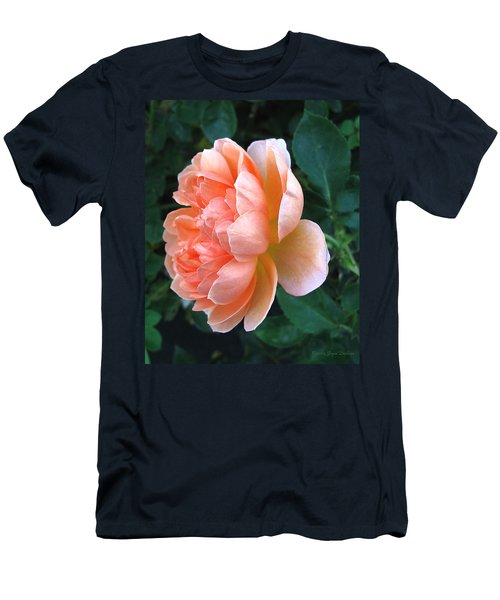 Men's T-Shirt (Slim Fit) featuring the photograph August Rose 09 by Joyce Dickens