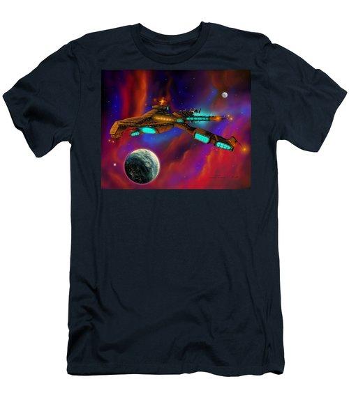 Men's T-Shirt (Slim Fit) featuring the painting Auroborus 2015 by James Christopher Hill