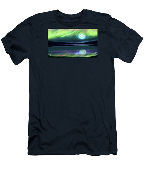 Aurora Moon Lake Men's T-Shirt (Athletic Fit)