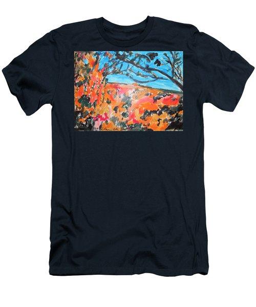 Autumn Flames Men's T-Shirt (Slim Fit) by Esther Newman-Cohen