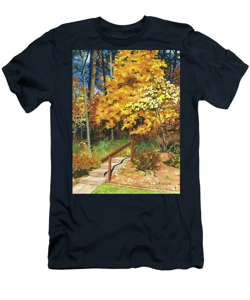 Men's T-Shirt (Slim Fit) featuring the painting Autumn Invitation by Barbara Jewell