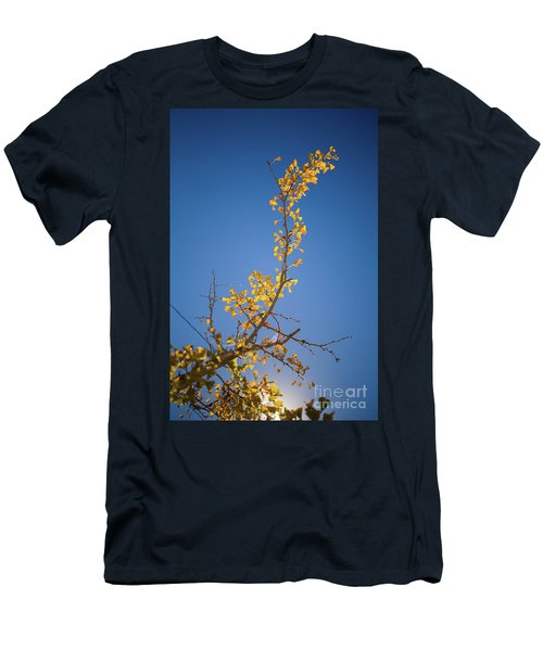 Men's T-Shirt (Athletic Fit) featuring the photograph Autumn Leaves Is Changing Color During October Fall Season With  by Jingjits Photography