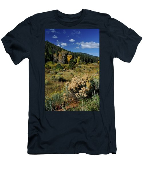 Men's T-Shirt (Athletic Fit) featuring the photograph Autumn Morning In The Canyon by Ron Cline