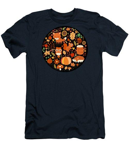 Autumn Party For Forest Friends Men's T-Shirt (Athletic Fit)