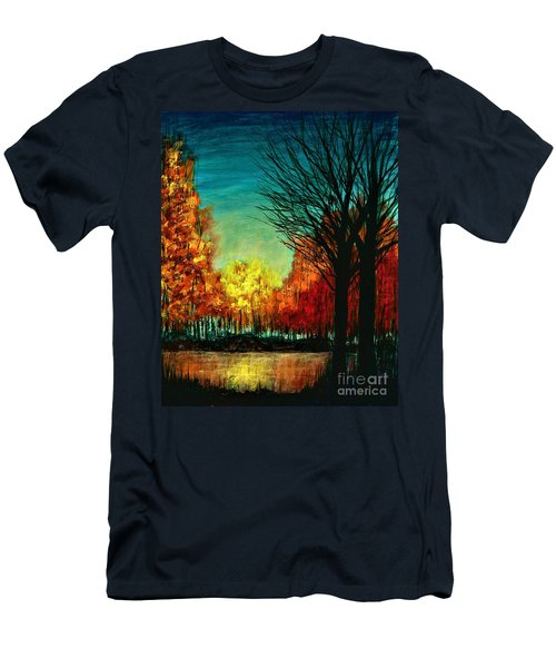 Autumn Silhouette  Men's T-Shirt (Athletic Fit)