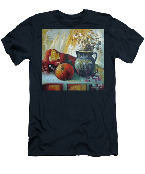 Men's T-Shirt (Slim Fit) featuring the painting Autumn Story by Elena Oleniuc