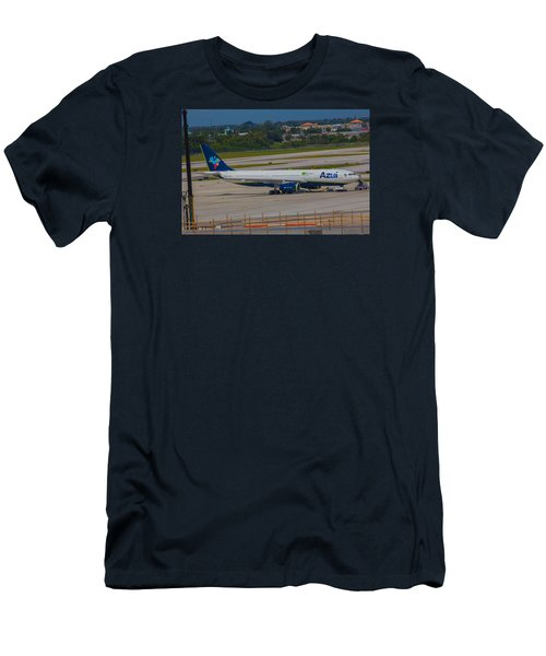 Azul Barzillian Airline Men's T-Shirt (Athletic Fit)