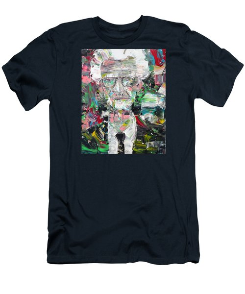 B. F. Skinner Portrait Men's T-Shirt (Slim Fit) by Fabrizio Cassetta