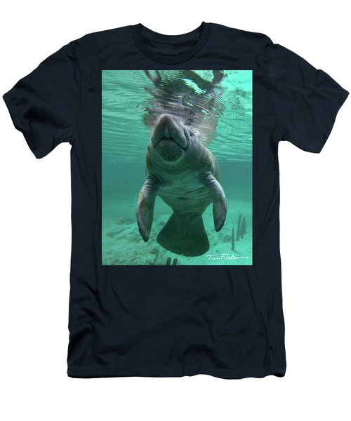 Baby Manatee Men's T-Shirt (Slim Fit) by Tim Fitzharris