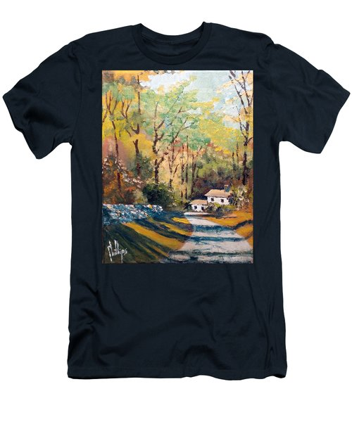 Men's T-Shirt (Slim Fit) featuring the painting Back In The Neighborhood by Jim Phillips