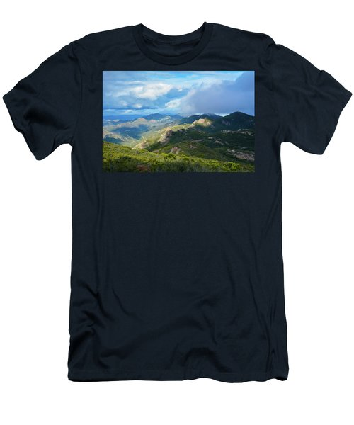 Backbone Trail Santa Monica Mountains Men's T-Shirt (Athletic Fit)