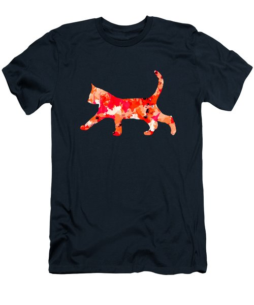 Background Colour Choice Cat Men's T-Shirt (Athletic Fit)