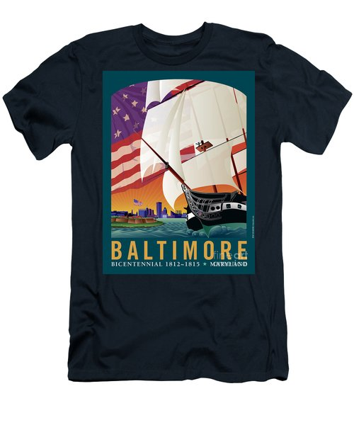 Baltimore - By The Dawns Early Light Men's T-Shirt (Athletic Fit)