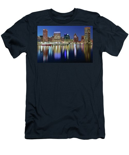 Baltimore Blue Hour Men's T-Shirt (Slim Fit) by Frozen in Time Fine Art Photography