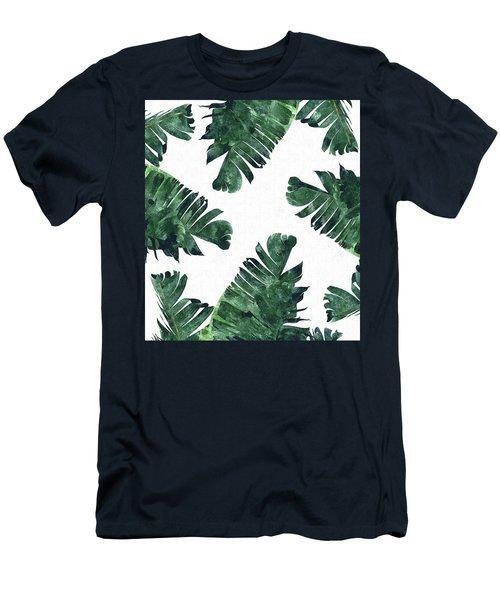 Banan Leaf Watercolor Men's T-Shirt (Slim Fit) by Uma Gokhale