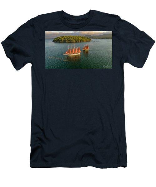Sailing Thru Life The Downeast Way Men's T-Shirt (Athletic Fit)