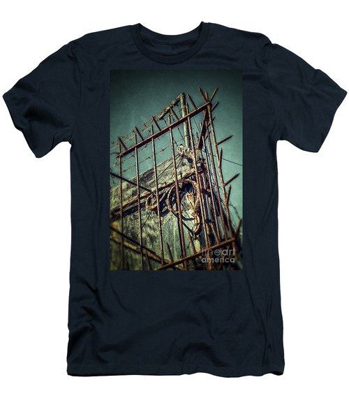 Barbed Wire On Wall Men's T-Shirt (Athletic Fit)