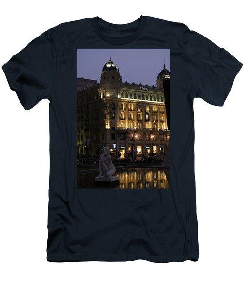 Barcelona Spain Men's T-Shirt (Slim Fit) by Henri Irizarri