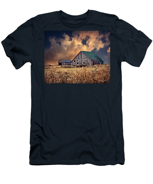 Barn Surrounded With Beauty Men's T-Shirt (Slim Fit) by Kathy M Krause