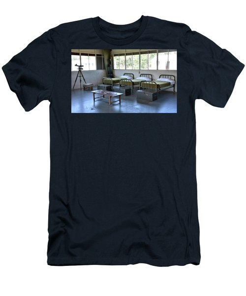 Men's T-Shirt (Slim Fit) featuring the photograph Barrack Interior At Fort Miles - Delaware by Brendan Reals