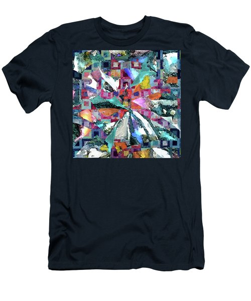 Batik Overlay Men's T-Shirt (Athletic Fit)