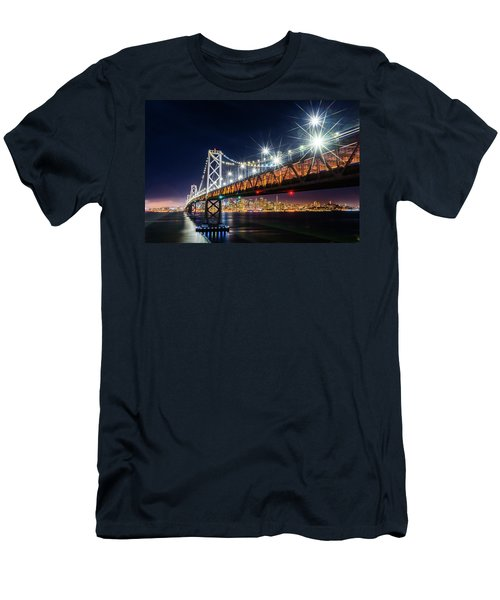 Bay Bridge And San Francisco By Night 5 Men's T-Shirt (Athletic Fit)
