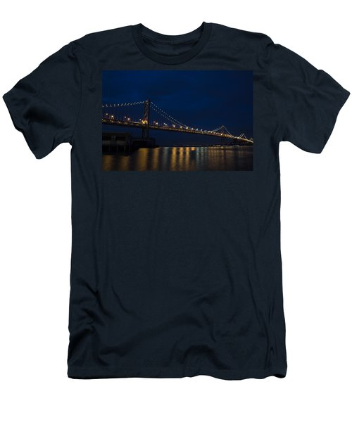 Bay Bridge At Night Men's T-Shirt (Athletic Fit)
