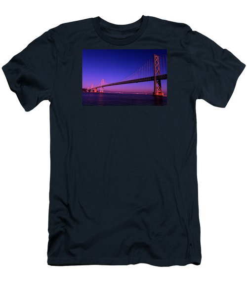 Men's T-Shirt (Slim Fit) featuring the photograph Bay Bridge Sunset by Linda Edgecomb