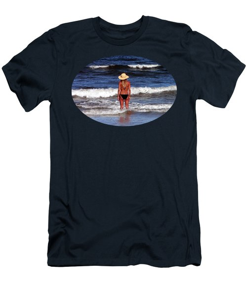 Men's T-Shirt (Slim Fit) featuring the photograph Beach Blonde .png by Al Powell Photography USA
