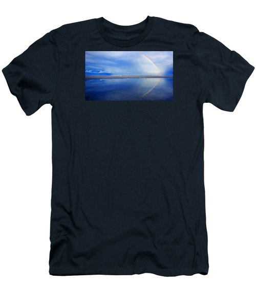 Beach Rainbow Reflection Men's T-Shirt (Athletic Fit)