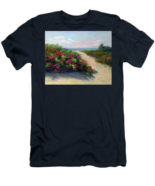 Beach Roses Men's T-Shirt (Athletic Fit)