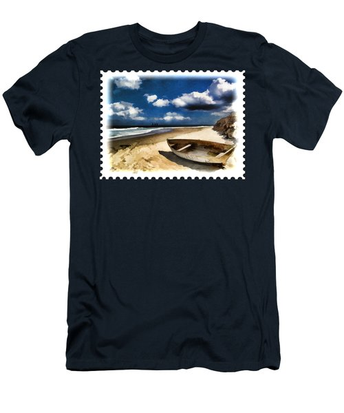 Beached Boat Before The Storm Men's T-Shirt (Athletic Fit)