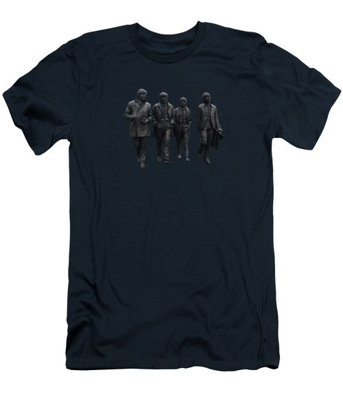 Men's T-Shirt (Slim Fit) featuring the photograph Beatles Remembered  by Movie Poster Prints