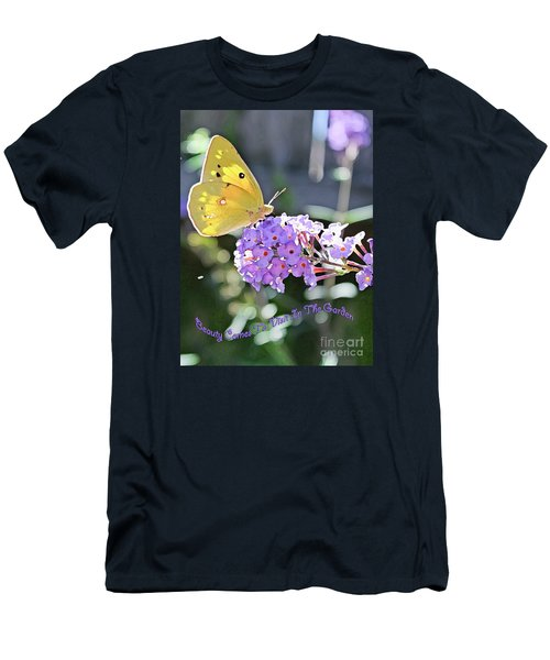 Beauty Comes To Visit Men's T-Shirt (Athletic Fit)