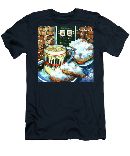 Beignets And Cafe Au Lait Men's T-Shirt (Athletic Fit)