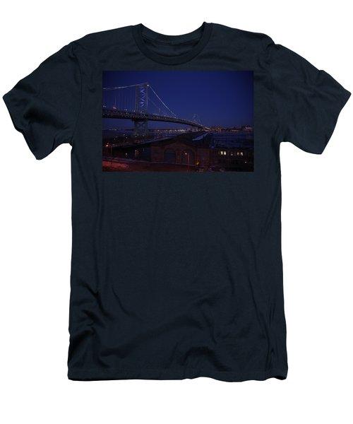 Benjamin Franklin Bridge Men's T-Shirt (Athletic Fit)