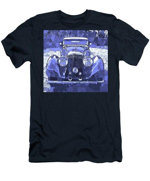 Bentley Blue Pop Art P2 Men's T-Shirt (Athletic Fit)