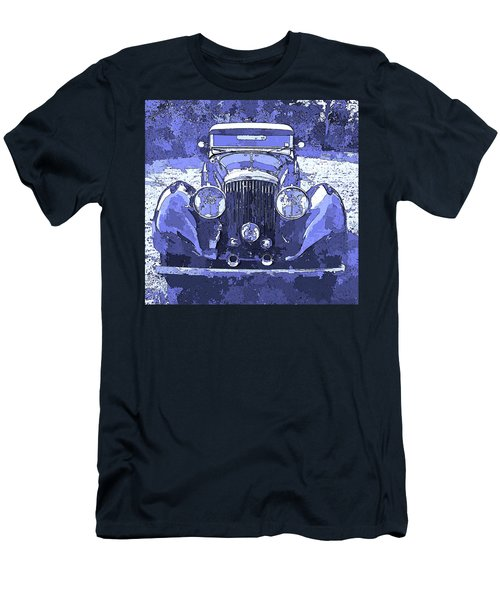 Bentley Blue Pop Art P2 Men's T-Shirt (Athletic Fit)