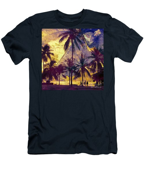 Beside The Sea Men's T-Shirt (Athletic Fit)