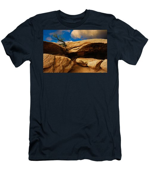 Between A Rock And A Hard Place Men's T-Shirt (Athletic Fit)