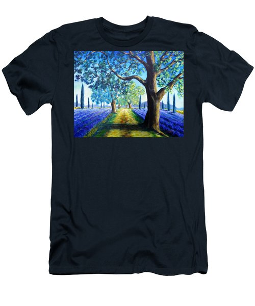 Between The Lavender Fields Men's T-Shirt (Athletic Fit)