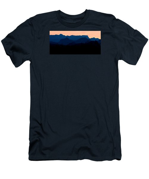 Big Bend Orange Blue Layers Men's T-Shirt (Athletic Fit)