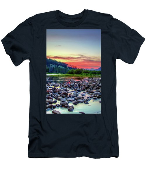 Big Hole River Sunset Men's T-Shirt (Athletic Fit)