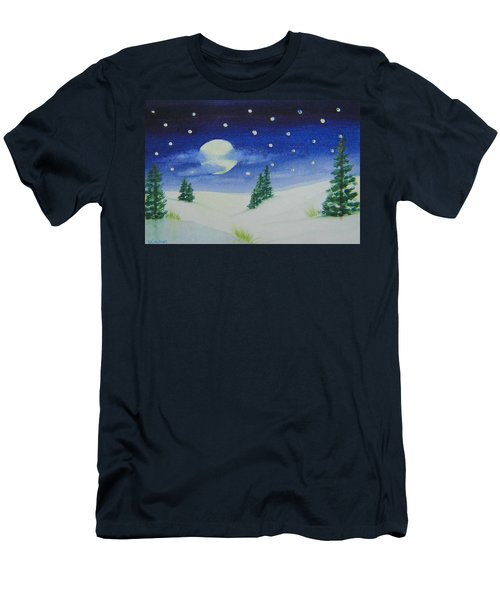 Big Moon Christmas Men's T-Shirt (Athletic Fit)