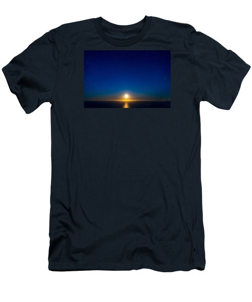 Big Sur Moonset Men's T-Shirt (Slim Fit) by Derek Dean