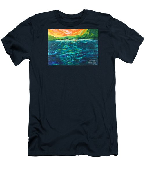 Big Tropical Wave Men's T-Shirt (Athletic Fit)