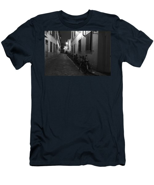 Bike Lined Alley Men's T-Shirt (Athletic Fit)
